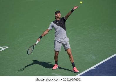 INDIAN WELLS, CA - MAR 05-18: Juan Martin Del Potro at the BNP PARIBAS OPEN Tennis Tournament in Indian Wells, CA on March 17, 2018