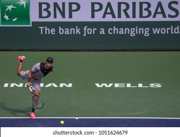 INDIAN WELLS, CA - MAR 05-18: Borna Coric at the BNP PARIBAS OPEN Tennis Tournament in Indian Wells, CA on March 17, 2018