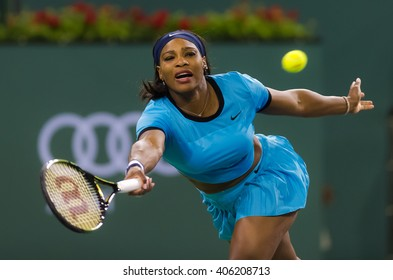 INDIAN WELLS, UNITED STATES - MARCH 16 : Serena Williams at the 2016 BNP Paribas Open