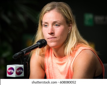 INDIAN WELLS, UNITED STATES - MARCH 13 : Angelique Kerber at the 2017 BNP Paribas Open WTA Premier Mandatory tennis tournament