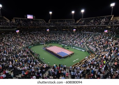 INDIAN WELLS, UNITED STATES - MARCH 10 : Ambiance inside Stadium 1 at the 2017 BNP Paribas Open WTA Premier Mandatory tennis tournament