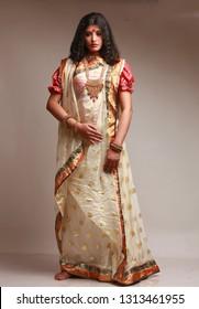 Indian woman in bengali dress