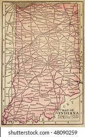 Indiana, circa 1880. See the entire map collection: http://www.shutterstock.com/sets/22217-maps.html?rid=70583