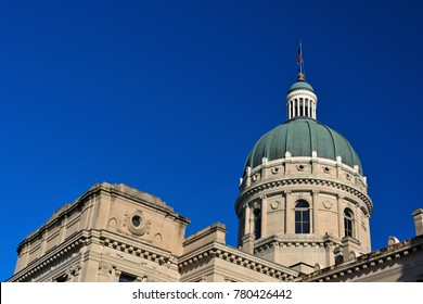 Indiana Statehouse Capitol Building on a Sunny Day