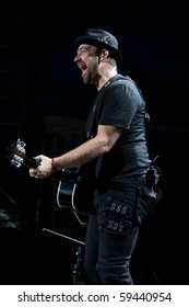 INDIANAPOLIS - AUGUST 20: Guitarist Kristian Bush of the country band Sugarland performs at the Indiana State Fair on August 20, 2010 in Indianapolis, Indiana.