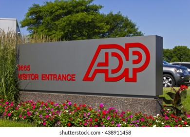 Indianapolis - Circa 2016: ADP Location. ADP is a Provider of Business Outsourcing Services II