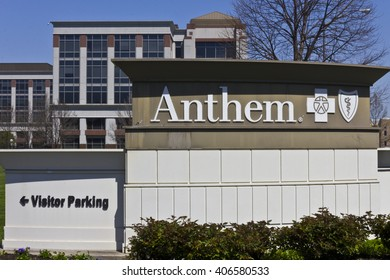 Indianapolis - Circa April 2016: Anthem World Headquarters. Anthem is a Trusted Health Insurance Plan Provider IV