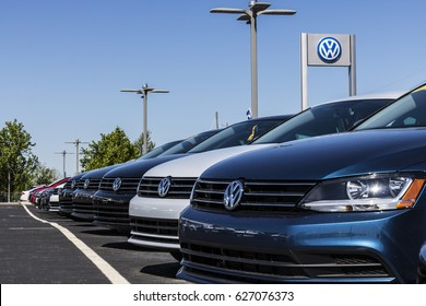 Indianapolis - Circa April 2017: Volkswagen Cars and SUV Dealership. VW is Among the World's Largest Car Manufacturers X