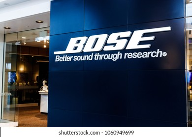 Indianapolis - Circa April 2018: Bose Corporation retail mall location. Bose manufactures high end audio equipment I