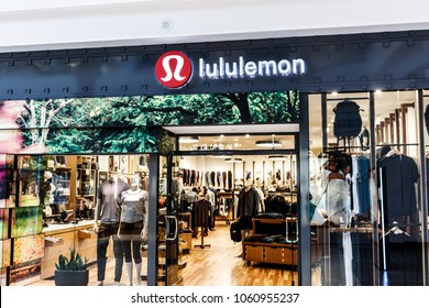 Indianapolis - Circa April 2018: Lululemon Athletica retail mall location. Lululemon Athletica offers yoga and athletic apparel to men and women I