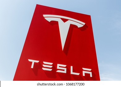 Indianapolis - Circa April 2018: Tesla Service Center. Tesla designs and manufactures the Model S and Model X electric sedan II