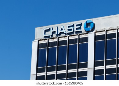 Indianapolis - Circa April 2019: Chase Bank retail location. Chase is the consumer and commercial banking business of JPMorgan Chase II