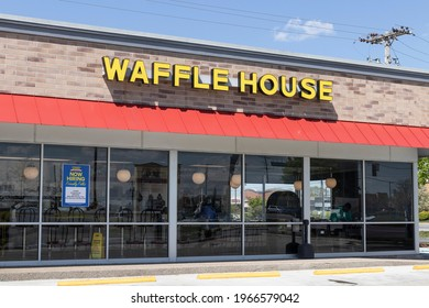 Indianapolis - Circa April 2021: Waffle House Iconic Southern Restaurant Chain. Waffle House was founded in 1955.