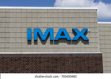 Indianapolis - Circa August 2017: IMAX Movie Theater Logo and Signage. IMAX is a Large Format System of Presenting Movies and Motion Pictures IV