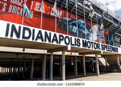Indianapolis - Circa August 2018: Indianapolis Motor Speedway Gate 2 Entrance. IMS Hosts the Indy 500 and Brickyard 400 Auto Races XIII