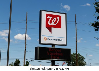 Indianapolis - Circa August 2019: Walgreens Retail Location. Community Clinic at Walgreens offers urgent care type medical services
