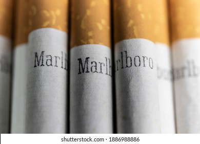 Indianapolis - Circa December 2020: Marlboro Cigarettes. Marlboro is a product of the Altria Group and manufactured by Philip Morris USA.