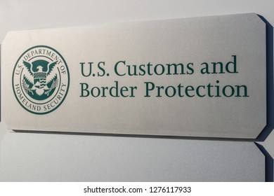 Indianapolis - Circa January 2019: Customs and Border Protection. ICE is the largest investigative agency in the Department of Homeland Security and CBP II