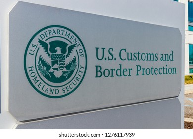 Indianapolis - Circa January 2019: Customs and Border Protection. ICE is the largest investigative agency in the Department of Homeland Security and CBP I