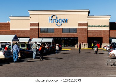 Indianapolis - Circa January 2019: Kroger Supermarket. The Kroger Co. is One of the World's Largest Grocery Retailers I