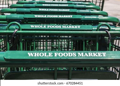 Indianapolis - Circa July 2017: Whole Foods Market. Amazon announced an agreement to buy Whole Foods for $13.7 billion II