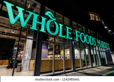 Indianapolis - Circa July 2018: Whole Foods Market. Amazon is expanding Whole Foods delivery in different US states VI
