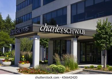 Indianapolis - Circa June 2016: Charles Schwab Consumer Location. The Charles Schwab Corporation Provides Brokerage, Banking and Financial Services III