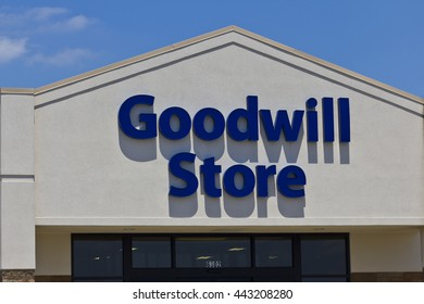 Indianapolis - Circa June 2016: A Goodwill Store. In 2015, Goodwill helped more than 26.4 million people train for careers I