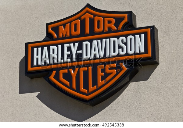 Indianapolis - Circa June 2016: Harley-Davidson Local Signage. Harley Davidson's Motorcycles are Known for Their Loyal Following III