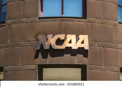 Indianapolis - Circa June 2017: National Collegiate Athletic Association Headquarters. The NCAA regulates athletic programs of many colleges and universities VIII