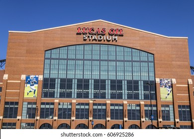 Indianapolis - Circa March 2017: Lucas Oil Stadium. Lucas Oil is a Sponsor of the Indianapolis Colts III