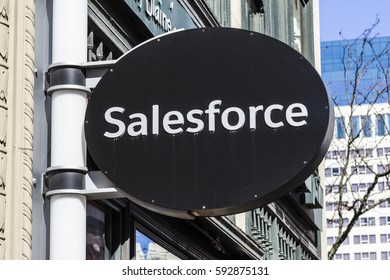 Indianapolis - Circa March 2017: Salesforce.com local office. Salesforce is a cloud computing company and will add 800 new jobs to Indianapolis I