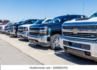Indianapolis - Circa March 2018: Chevrolet Trucks at a Chevy Dealership. Chevrolet is a Division of General Motors VI
