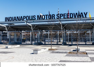 Indianapolis - Circa March 2018: Indianapolis Motor Speedway Gate 1 Entrance. IMS Hosts the Indy 500 and Brickyard 400 Auto Races VI