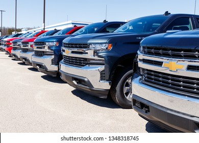 Indianapolis - Circa March 2019: Chevrolet Automobile Dealership. Chevy is a Division of General Motors V