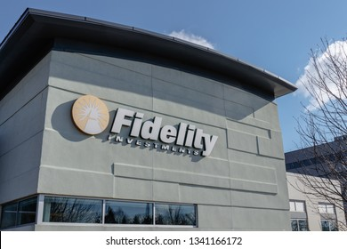 Indianapolis - Circa March 2019: Fidelity Investments branch. Fidelity Investments operates a brokerage firm and manages a large family of mutual funds I