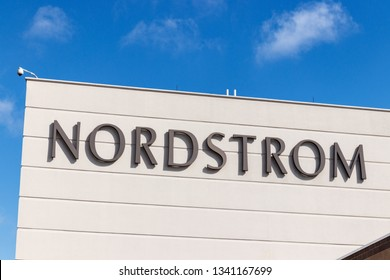 Indianapolis - Circa March 2019: Nordstrom Retail Mall Location. Nordstrom is Known for its Service and Fashion I
