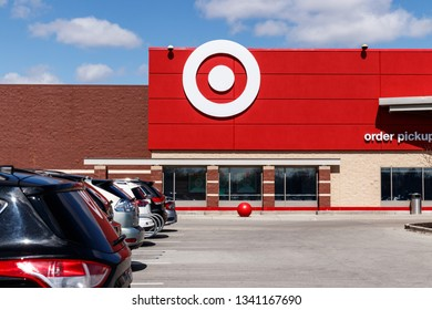 Indianapolis - Circa March 2019: Target Retail Store Baskets. Target Sells Home Goods, Clothing and Electronics II