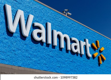 Indianapolis - Circa May 2018: Walmart Retail Location. Walmart is boosting its internet and ecommerce presence to keep up with competitors VII