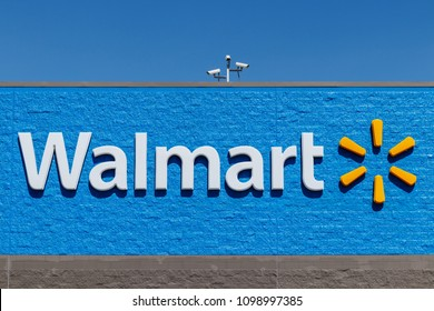 Indianapolis - Circa May 2018: Walmart Retail Location. Walmart is boosting its internet and ecommerce presence to keep up with competitors VI
