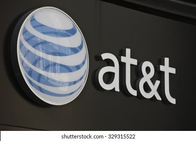 INDIANAPOLIS - CIRCA OCTOBER 2015: AT&T Indianapolis Headquarters. AT&T Inc. is an American Telecommunications Corporation I