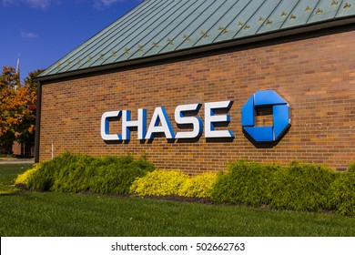 Indianapolis - Circa October 2016: Chase Bank. Chase is the U.S. Consumer and Commercial Banking Business of JPMorgan Chase IV