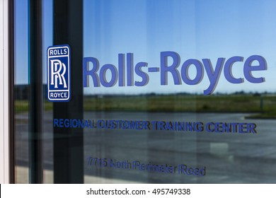 Indianapolis - Circa October 2016: Rolls-Royce Corporation Regional Customer Training Center. Rolls-Royce is a Global Company Providing Jet and Gas Turbine Engines IV