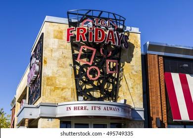 Indianapolis - Circa October 2016: TGI Friday's Restaurant Location. TGI Fridays offers great food and amazing drinks III