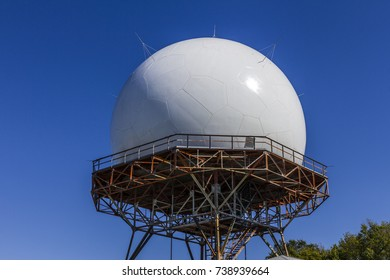 Indianapolis - Circa October 2017: FAA Air Traffic Control Doppler Radar Dome. ATC Radar tracks all airborne flights in the US I