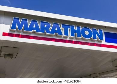 Indianapolis: Circa September 2016: Marathon Petroleum Retail Gas Station. Marathon Petroleum Refines and Markets Oil Products I