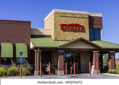 Indianapolis - Circa September 2016: Outback Steakhouse Restaurant Location. Outback offers an Australian themed experience I