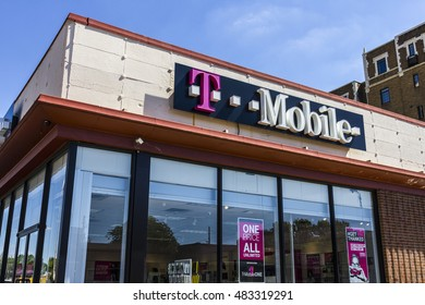Indianapolis - Circa September 2016: T-Mobile Retail Wireless Store. T-Mobile is a wireless provider offering cell phones, data plans and accessories V