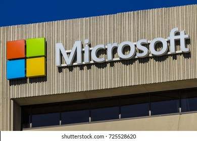 Indianapolis - Circa September 2017: Microsoft Midwest District Headquarters. Microsoft develops and manufactures Windows and Surface software IX