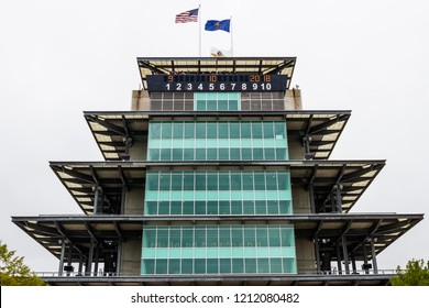 Indianapolis - Circa September 2018: The Pagoda at Indianapolis Motor Speedway. The Pagoda is one of the most recognizable structures at IMS and motorsports